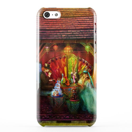 A Mad Tea Party Design Clip On Hard Case Back Cover For Apple Iphone 5C Cell Phone