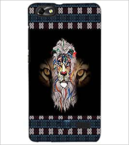 PrintDhaba Tiger D-3026 Back Case Cover for HUAWEI HONOR 4C (Multi-Coloured)