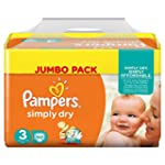 Pampers Windeln Simply Dry Gr. 3 Midi...