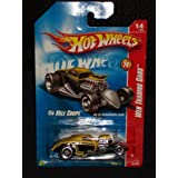 Hot Wheels 2008 Web Trading Cars # 14 Of 24 1/4 Mile Coupe Yellow And Black 2008 090 90 1:64 Scale