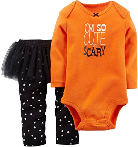I'm So Cute It's Scary Baby Costume Carter's 2 Pieces Glow in Dark (9 months)