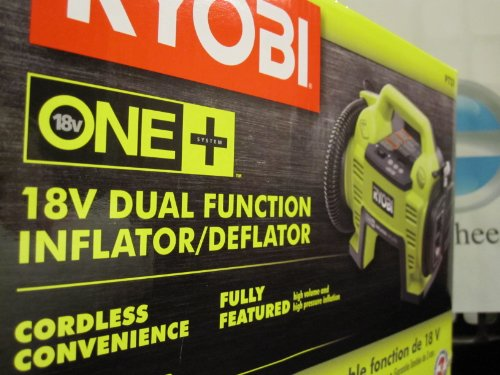 Best Prices! Ryobi P731 18v Dual Function Inflator/Deflator Cordless Air Compressor Battery and Char...