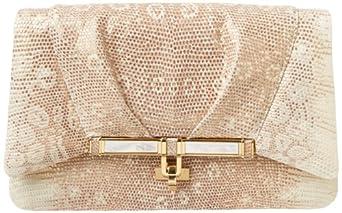 Kara Ross Priscilla Clutch,Gold,One Size