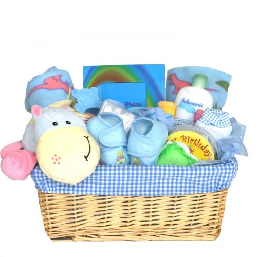 For a Precious New Baby Boy - Gift Basket - Great Shower Gift Idea for Newborns