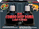Zoo Med Mini Combo Deep Dome Lamp Fixture, Black