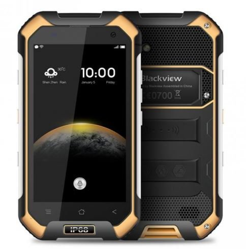 "Blackview BV6000 - IP68 Android-OS 6.0 Smartphone Impermeable Antipolvo Antigolpes 3GB de RAM + 32GB con 2,0 GHz 4,7 "" Gorilla Glass 3 Amarillo width="