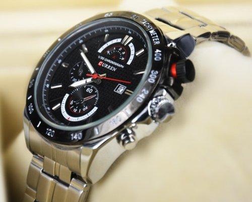 Curren 3Atm Waterproof Quartz Men'S Watches Fashion Military Army Vogue Mens Wristwatch, Brand High Quality Balck