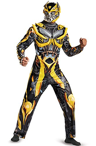 [Mememall Fashion Transformers Bumblebee Deluxe Adult Costume] (Plus Size Deluxe Bumblebee Costumes)