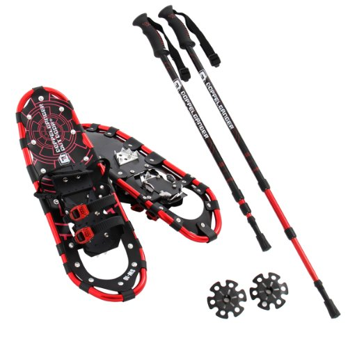 DOPPELGANGER (doppelganger) outdoor trekking pole snowshoe set SW-10TP 25inch special carry bag included (left or right pole left 1 set, 1 set)