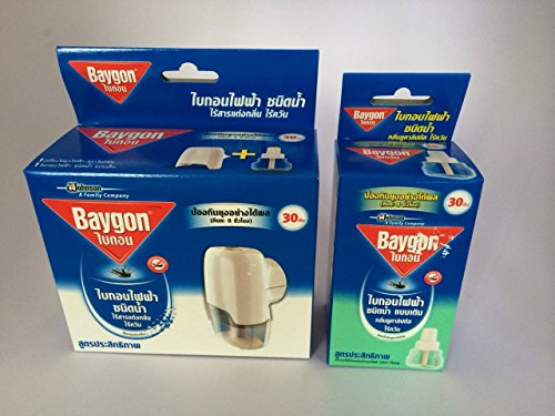 Baygon Liquid Electric Mosquito Repeller 30 Days 0.77 Oz. Free 1X Refillable(Eucalyptus)