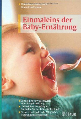 Einmaleins der Babyernährung: Aktuell: Alles Wissenswerte über Babyernährung. Zahlreiche Einkaufstipps: So finden Sie das Beste für Ihr Kind. Schnell und praktisch: Mit großer Nahrungsmittelübersicht hier kaufen