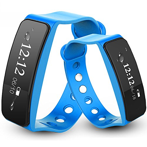 Fitness Tracker Activity Watch Step Walking Sleep Counter Wireless Wristband Pedometer Exercise Tracking Sweatproof Sports Bracelet for Android and iOS Blue