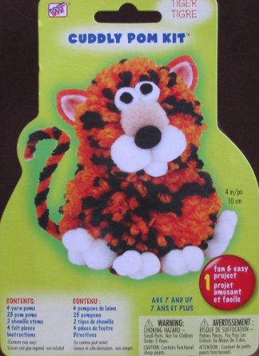Cuddly Pom Kit: Tiger