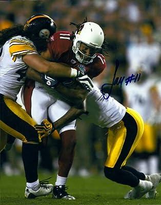 Larry Fitzgerald Arizona Cardinals Autographed Signed 8 x 10 Photo - COA - Mint Condition