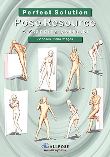 [Allpose Book] 5_Standing poses(b) Cartooning Comic Character Figure Drawing. (Learn comic,cartoon,manga,anime,illustration human body pose