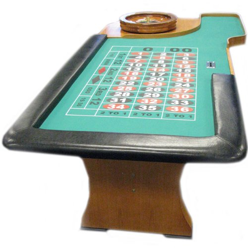 Trademark Poker 94 Inch Roulette Table With Padded Armrest