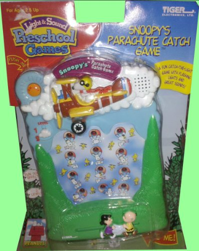Snoopy's Parachute Catch Electronic Light & Sound Preschool Handheld Game by Snoop