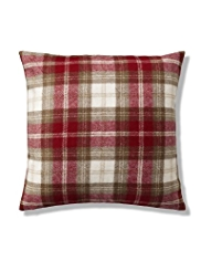 Winter Berry Checked Cushion
