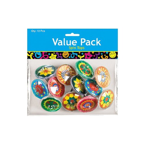 Spin Tops Value Pack - 12 pieces