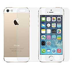 Premium Tempered Glass Screen Protector Screen Guard For Apple Iphone 5, 5S (FRONT / BACK)