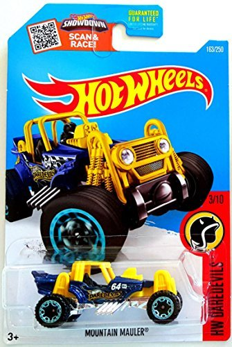 Hot Wheels, 2016 HW Daredevils, Mountain Mauler [Yellow] Treasure Hunt #163/250