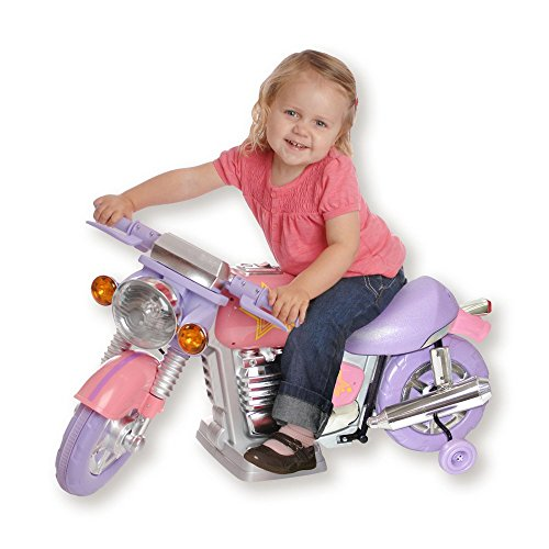 New Star New Star Pink Motorcycle Battery Powered Riding Toy, Purple, Plastic, 6 Volt