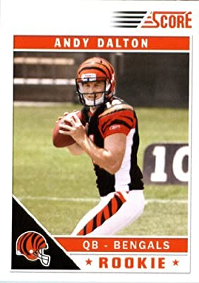 2011 Score Football Card #308 Andy Dalton RC - Cincinnati Bengals (field in background)(RC - Rookie Card) NFL Trading Card