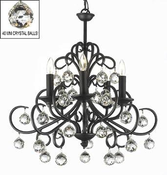 Bellora Crystal Wrought Iron Chandelier Chandeliers Lighting ...