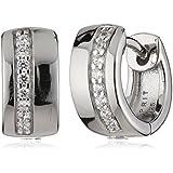 Esprit Damen-Creolen 925 Sterling Silber rhodiniert Zirkonia ESCO91686A000