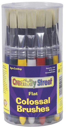 Colossal Flat Brush Canister - 30 Brush/Assorted Color Set; no. CK-5167