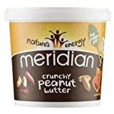 Meridian Natural Crunchy Peanut Butter with No Added Salt 1 Kg (Pack of 6)