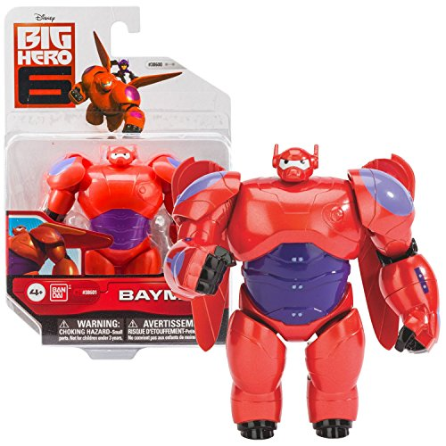 """Bandai Year 2014 Disney """"Big Hero 6"""" Movie Series 4-1/2 Inch Tall Action Figure - Red Suit BAYMAX with 2 Removable Wings"""