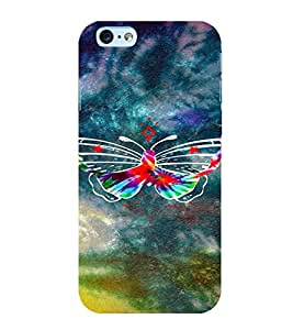 PrintVisa Colorful Butterfly 3D Hard Polycarbonate Designer Back Case Cover for Apple iPhone 6