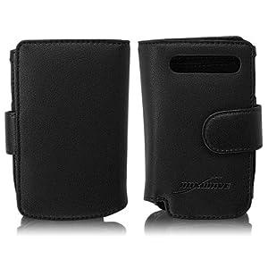 BoxWave HP iPAQ 912c Designio Leather Case - Premium Grade 100% Genuine Leather Wallet Style Flip Cover Case - HP iPAQ 912c Cases and Covers (Horizontal Flip Cover)