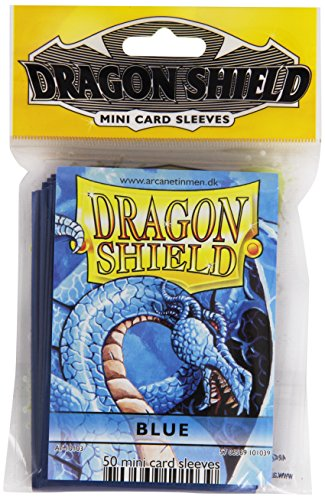 Dragon Shield Mini Card Sleeves Blue 50 Count