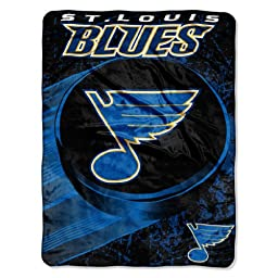 NHL St. Louis Blues 46-Inch-by-60-Inch Micro-Raschel Blanket, Ice Dash Design