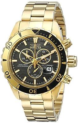 Invicta Men's 20187SYB Pro Diver Analog Display Quartz Gold-Tone Watch