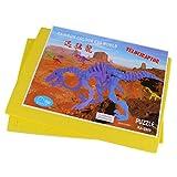 Juguete Rompecabezas Modelo de Esqueleto 3D Dinosaurio Simulación Madera Niños - Amarillo