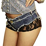 Specifications: 100% brand new and high quality. Gender: Women, Girl Pattern: Solid Materials: Cotton fibers Jeans Style: Straight Item Type: Shorts Waist Type: Low Closure Type: Button Fly Decoration: Lace The hottest trend for summer fashio...
