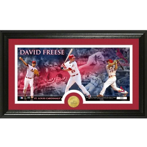 St. Louis Cardinals David Freese Bronze Coin Pano Photo Mint at Amazon.com
