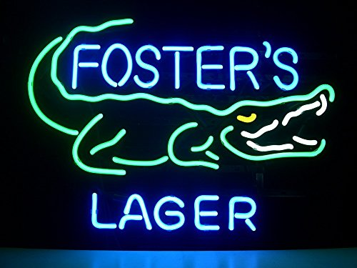 new-fosters-lager-real-glass-neon-light-sign-home-beer-bar-pub-recreation-room-game-room-windows-gar