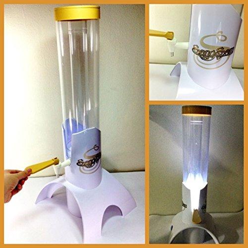 thai-sangsom-beer-tower-work-light-ice-tube-singha-dispenser-mobile-tap-beverage-table-top-red-star-