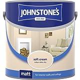 Johnstones No Ordinary Paint Water Based Interior Vinyl Matt Emulsion Soft Cream 2.5 Litre