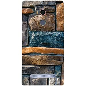Casotec Decorative Stone Cladding Design Hard Back Case Cover for Gionee Elife E8