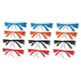 The ULTIMATE Safety Glasses, 12 Pack Clear Lenses, Impact Resistant, UV Protection