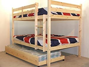 Bunk Bed with Guest Bed   3ft Single bunkbed with pull out trundle   Includes 3x 15cm thickmattresses       Customer reviews and more information