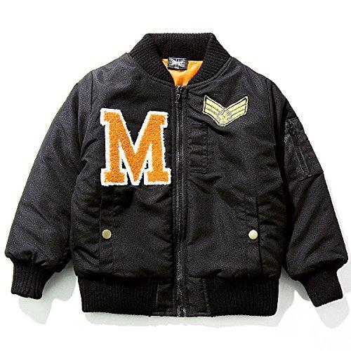 (シスキー) SHISKY キッズ M0-0 ボーイズ ワッペン付MA-1 ミリタリー ジャケット アウター コート 防寒110 3-2