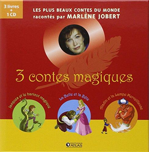 3 contes magiques : Coffret en 3 volumes : Jacques et le haricot magique ; La Belle et la Bête ; Aladin et la lampe merveilleuse