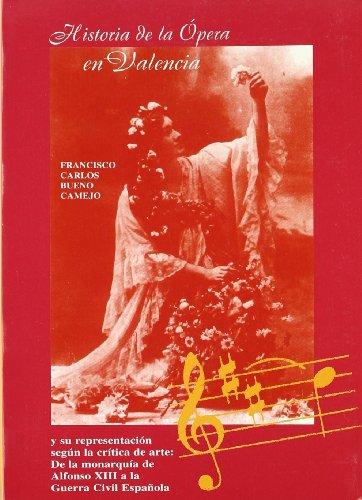 Historia de la opera en Valencia y su representacion segun la critica - Francisco Carlos Bueno Camejo - Libro