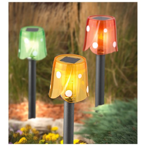 20 Mini Floral Tulip-Top Solar Lights